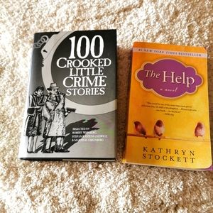 2 books the help and 100 crooked little crime stor